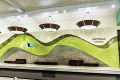 空的地铁车站在索非亚 库存照片