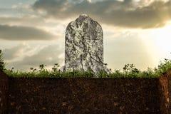 空的坟墓 库存图片