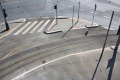 空的城市交叉路 免版税图库摄影