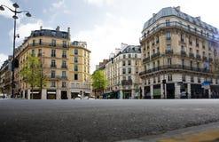 空的城市风景 巴黎 免版税库存图片