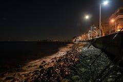空的夏天镇在冬天晚上-土耳其 图库摄影