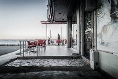 空的夏天镇在土耳其 免版税图库摄影