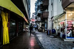 空的夏天镇在土耳其 库存照片
