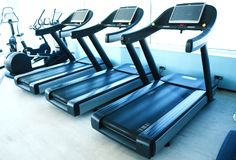 空的大健身房 库存图片