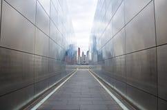空的天空:新泽西9月11日纪念品 免版税库存照片