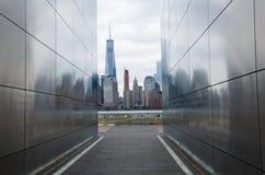 空的天空:新泽西9月11日纪念品 库存照片
