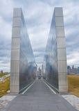 空的天空:新泽西9月11日纪念品 库存图片