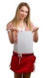 空的女孩纸张页显示年轻人 图库摄影