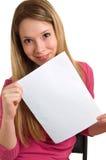 空的女孩页显示 免版税库存图片