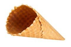 空的奶蛋烘饼冰淇凌 查出在白色 库存图片
