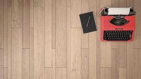 空的室、顶楼、顶楼、木条地板木地板和木天花板 免版税库存图片