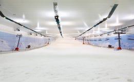 空的室内照明设备滑雪 图库摄影