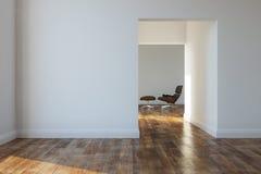 空的室在一个现代房子里 免版税库存图片
