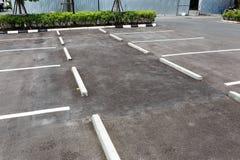 空的室外停车场 库存照片