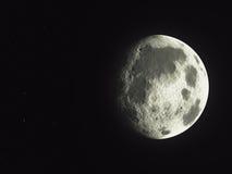 空的小行星的一个旁边阴影 免版税库存照片
