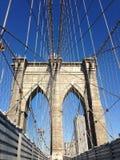 空的布鲁克林大桥,纽约 库存照片