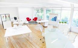 空的干净的办公室和证券交易经纪人行情室 免版税库存图片