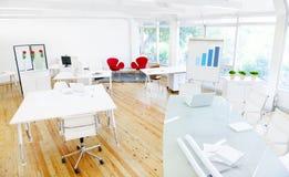 空的干净的办公室和证券交易经纪人行情室 免版税图库摄影