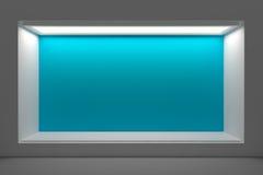 空的店面或指挥台有照明设备和一个大窗口的 免版税图库摄影