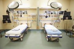 空的急诊室看法  免版税库存图片