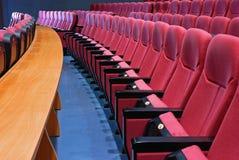 空的戏院位子 库存图片