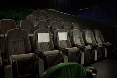 在戏院的Recerved位子 免版税库存图片