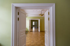 空的房间装饰仿照19世纪样式 库存图片