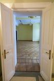 空的房间装饰仿照19世纪样式 免版税库存图片