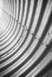 空的抽象钢隧道内部 免版税库存照片