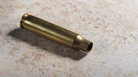 空的攻击步枪壳 免版税图库摄影