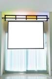 空的放映机墙壁 免版税库存照片