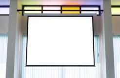 空的放映机墙壁 免版税图库摄影