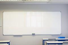 空的教室在学院 库存照片