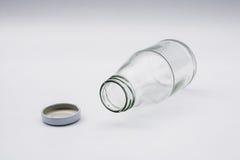 空的无色的玻璃瓶 免版税库存照片