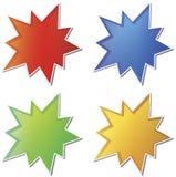 空的星形贴纸 向量例证