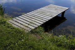 空的木码头 免版税库存照片