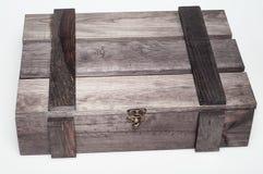 空的木礼物盒 免版税库存照片