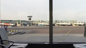 空的机场区域,货物运输,国际交付后勤学 股票视频