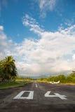 空的机场在Quepos,哥斯达黎加 库存图片