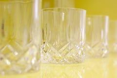 空的杯威士忌酒 库存照片