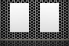 空的框架画廊内部 免版税库存照片