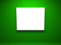 空的框架画廊内部 免版税图库摄影