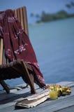 空的椅子,多巴哥 免版税库存照片