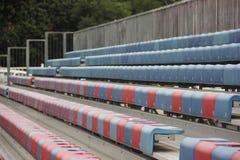 空的橄榄球观众地区在深圳sheKou体育中心 库存图片