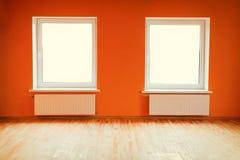 空的橙色室 免版税库存照片