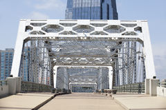 空的步行桥 免版税库存图片