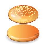 空的汉堡包小圆面包 库存例证