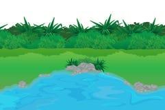 空的池塘 向量例证
