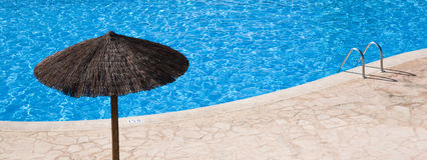 空的池游泳 免版税库存照片