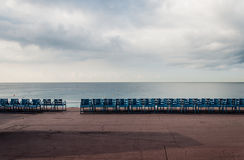 空的海散步 免版税库存照片